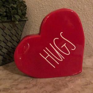 Rae Dunn Hugs Ceramic Heart